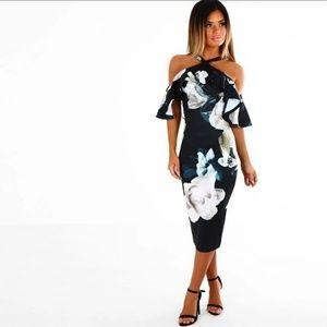 Strapless Halter Neck Off- Shoulder Summer Dress